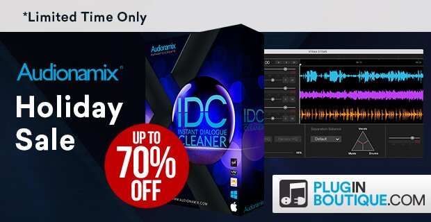 Save up to 50% off Audionamix audio source separation software in a