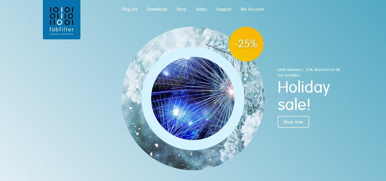 FabFilter Holiday Sale 2018: Get 25% off bundles through