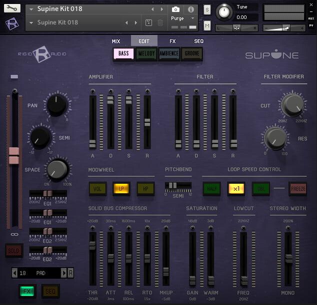 Ridig Audio Supine edit page