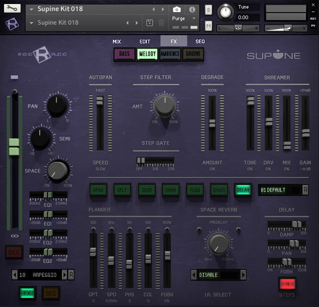 Ridig Audio Supine fx page