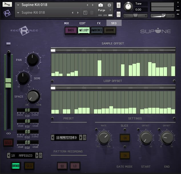 Ridig Audio Supine seq page
