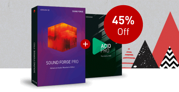 Save 45% off Sound Forge Pro 12 and ACID Pro 8