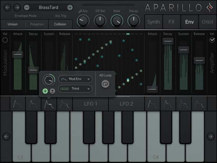Sugar Bytes Aparillo iPad Env loop