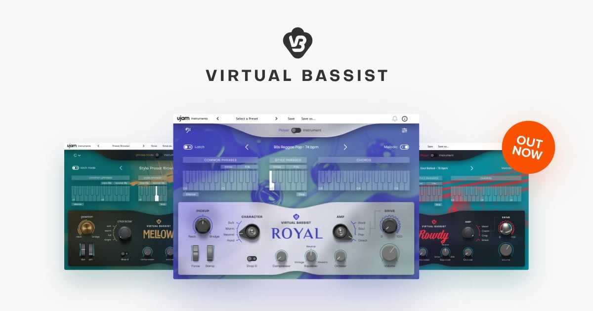 UJAM Virtual Bassist series of software instruments now available