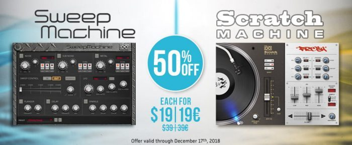 UVI SweepMachine & Scratch Maschine 50 off