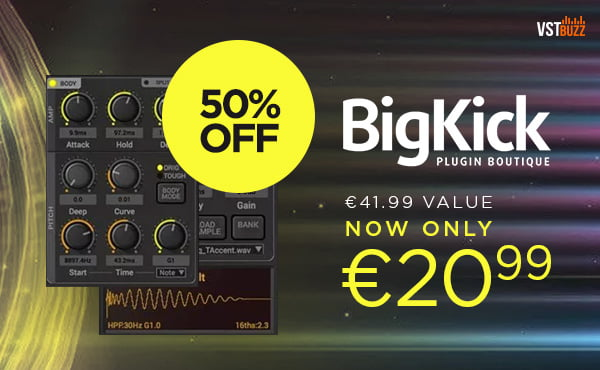 Save 50% off Big Kick by Plugin Boutique (+2 free expansions)
