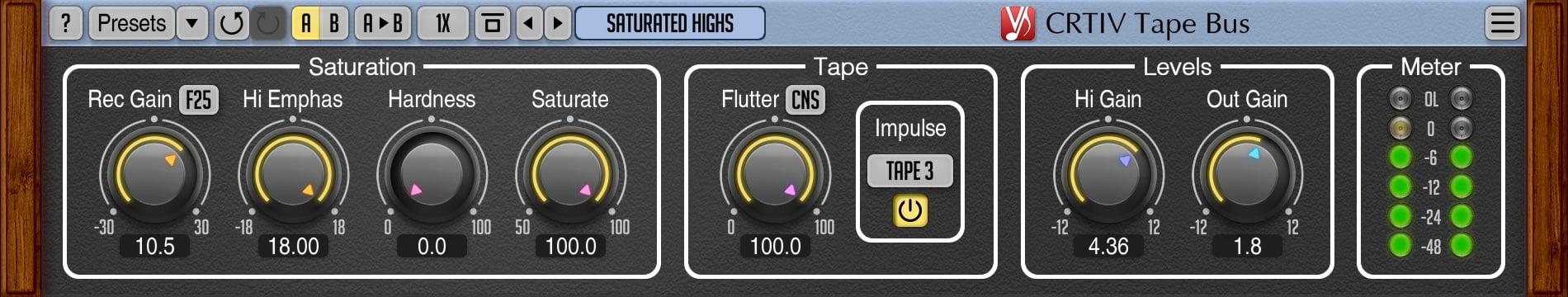 Voxengo updates CRTIV Tape Bus saturation plugin to v1 2