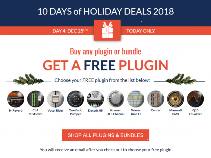 Waves 10 Days of Holiday Deals FREE plugin