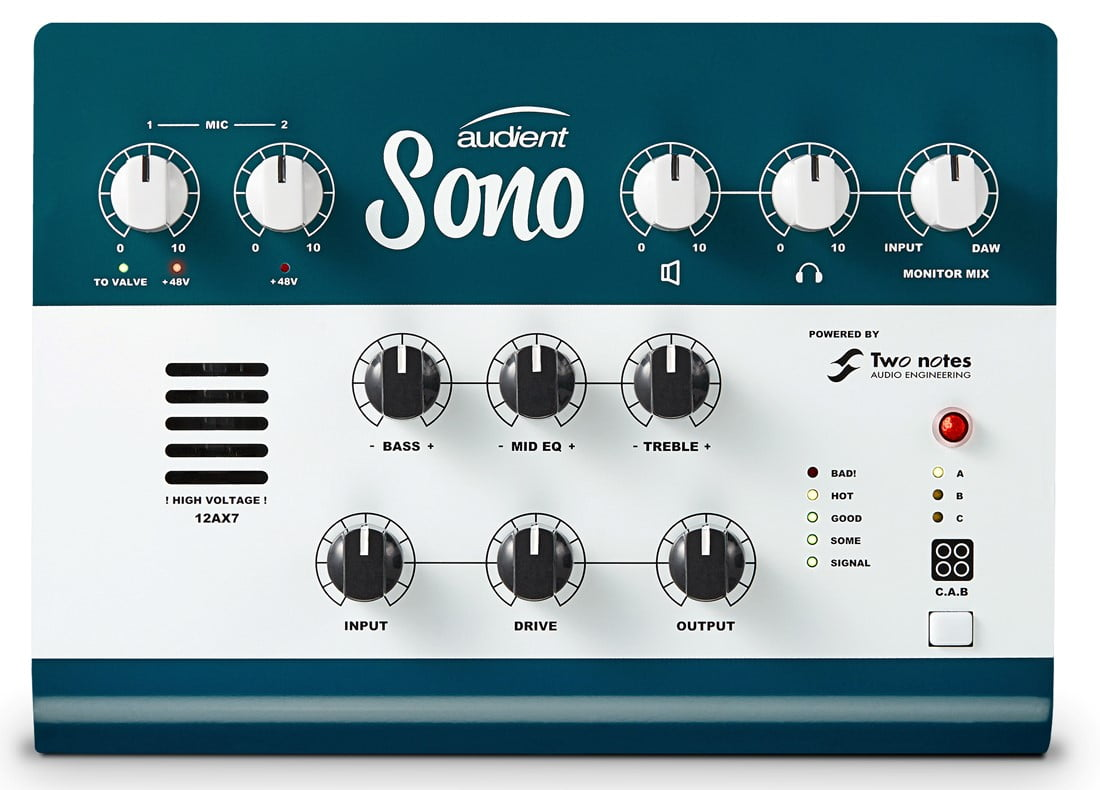 Audient intros Sono hybrid amp modeling audio interface