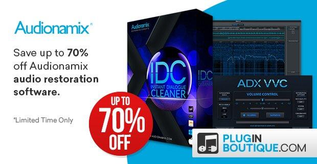 Save up to 70% off Audionamix audio separation & restoration tools