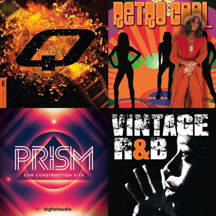 Big Fish Audio Q, Retro Cool, Prism and Vintage R&B