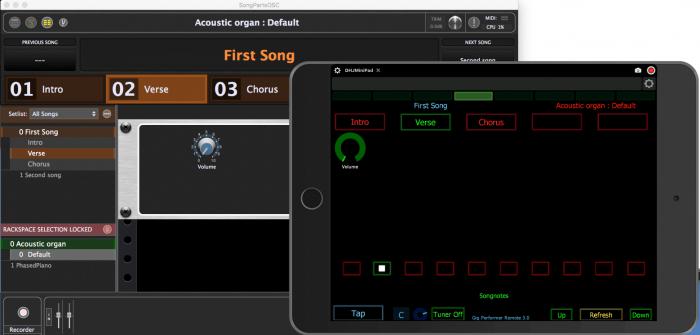 Deskew Technologies Gig Performer V3 with iPad