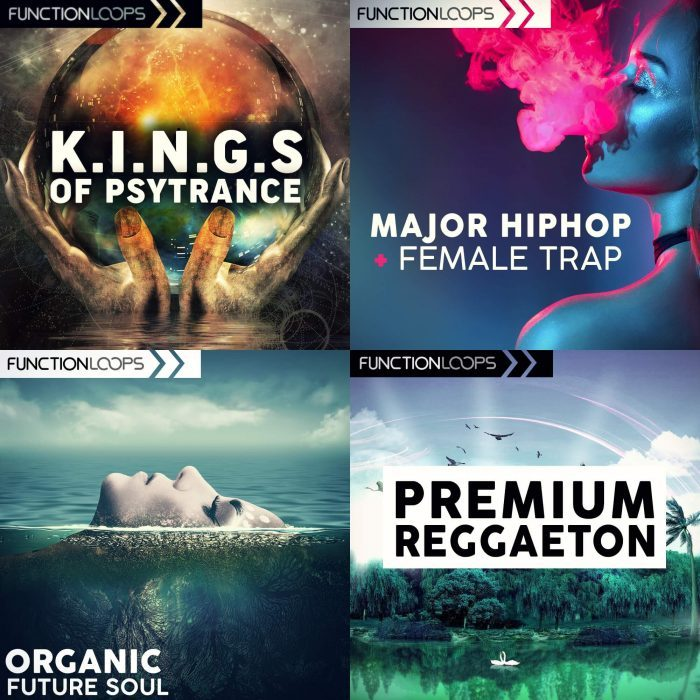 Function Loops Kings of Psytrance, Premium Reggaeton, Organic Future Soul and Major Hiphop & Female Trap