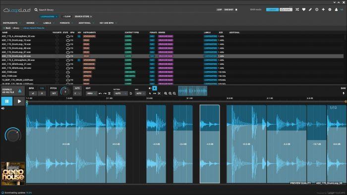 Loopcloud 4 Volume Select