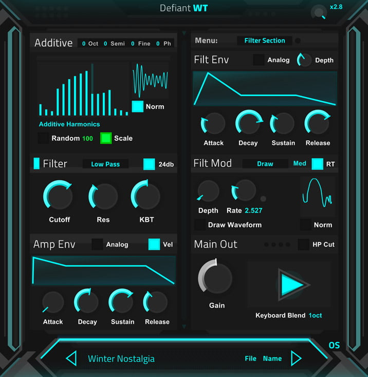 Ocean Swift releases Defiant WT free synth plugin +