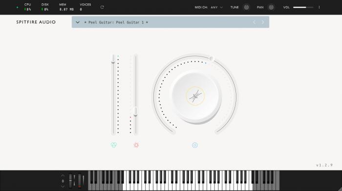 Spitfire Audio LABS Peel Guitar GUI