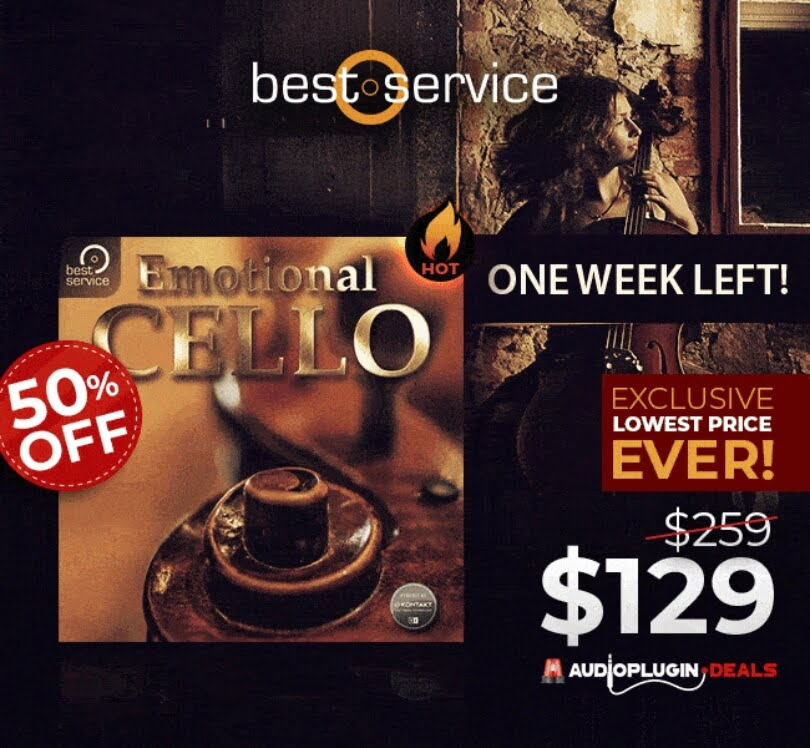 Last week to get 50% OFF Emotional Cello by Best Service