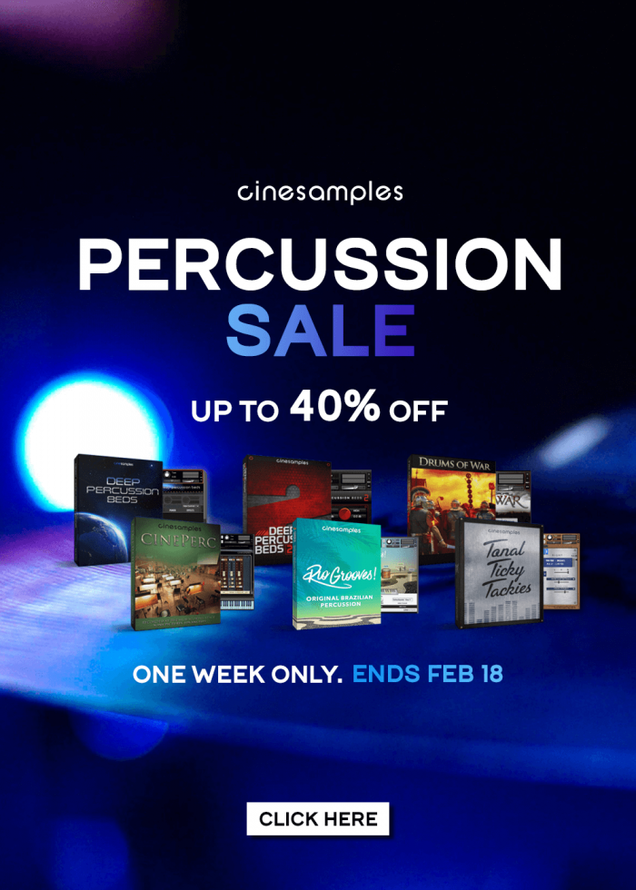 Cinesamples Percussion Sale 2019