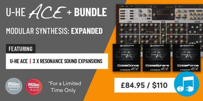 Plugin Boutique launches ACE+ Bundle: Semi-modular synth + 3