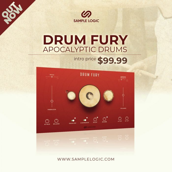 Sample Logic Drum Fury intro offer