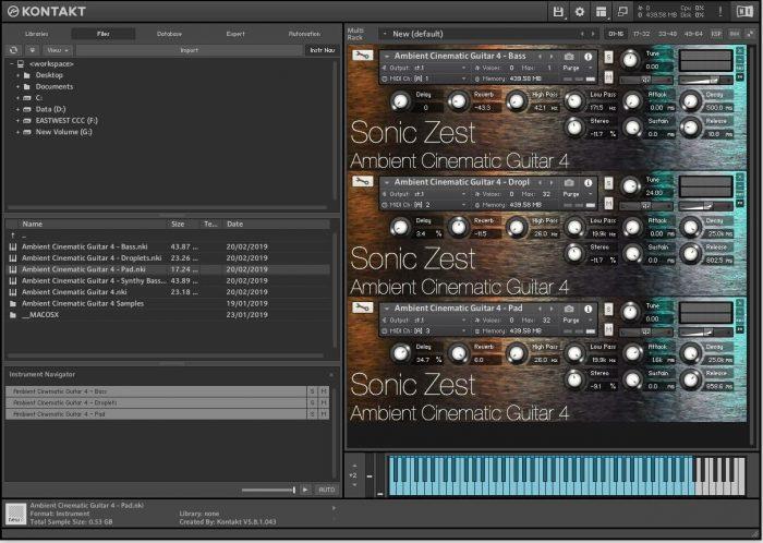 Sonic Zest Ambient Cinematic Guitar Kontakt