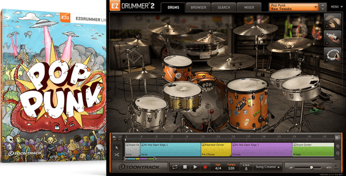Toontrack Pop Punk EZX