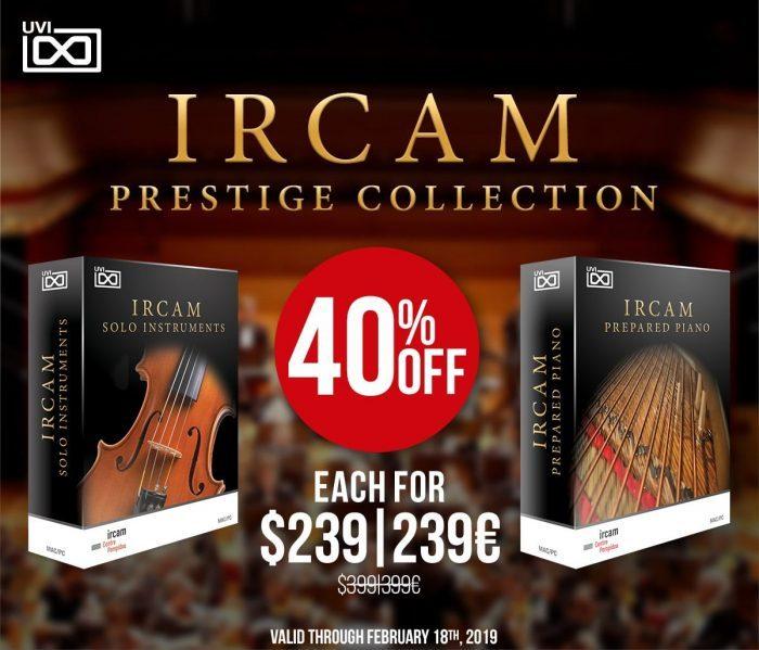 UVI IRCAM Prestige Collection 40 OFF