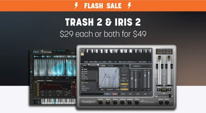 iZotope Trash 2 & Iris 2 flash sale