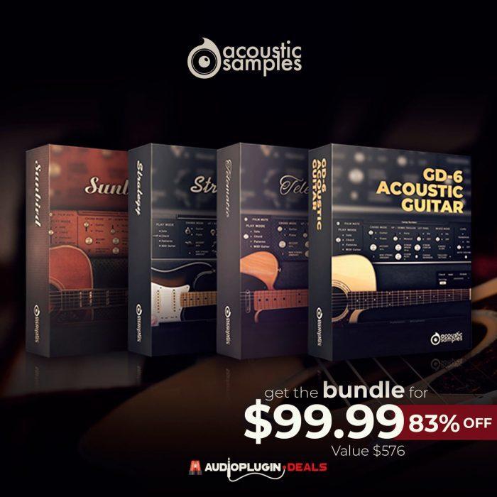 Audio Plugin Deals Acousticsamples 4 in 1 Guitar Bundle