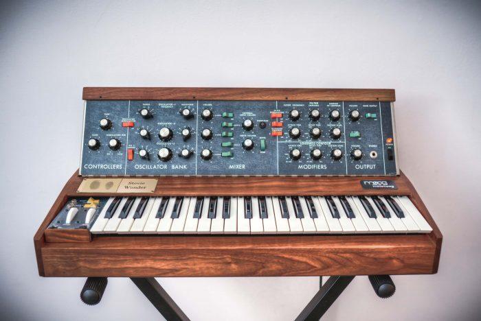 BMF Moog Model D signed by Stevie Wonder