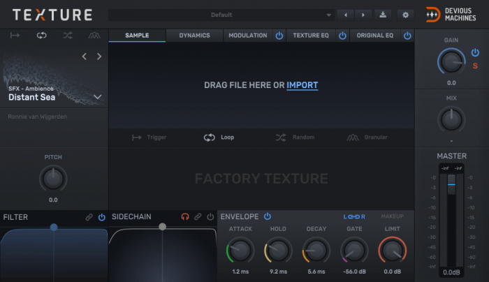 Devious Machines Texture sample import