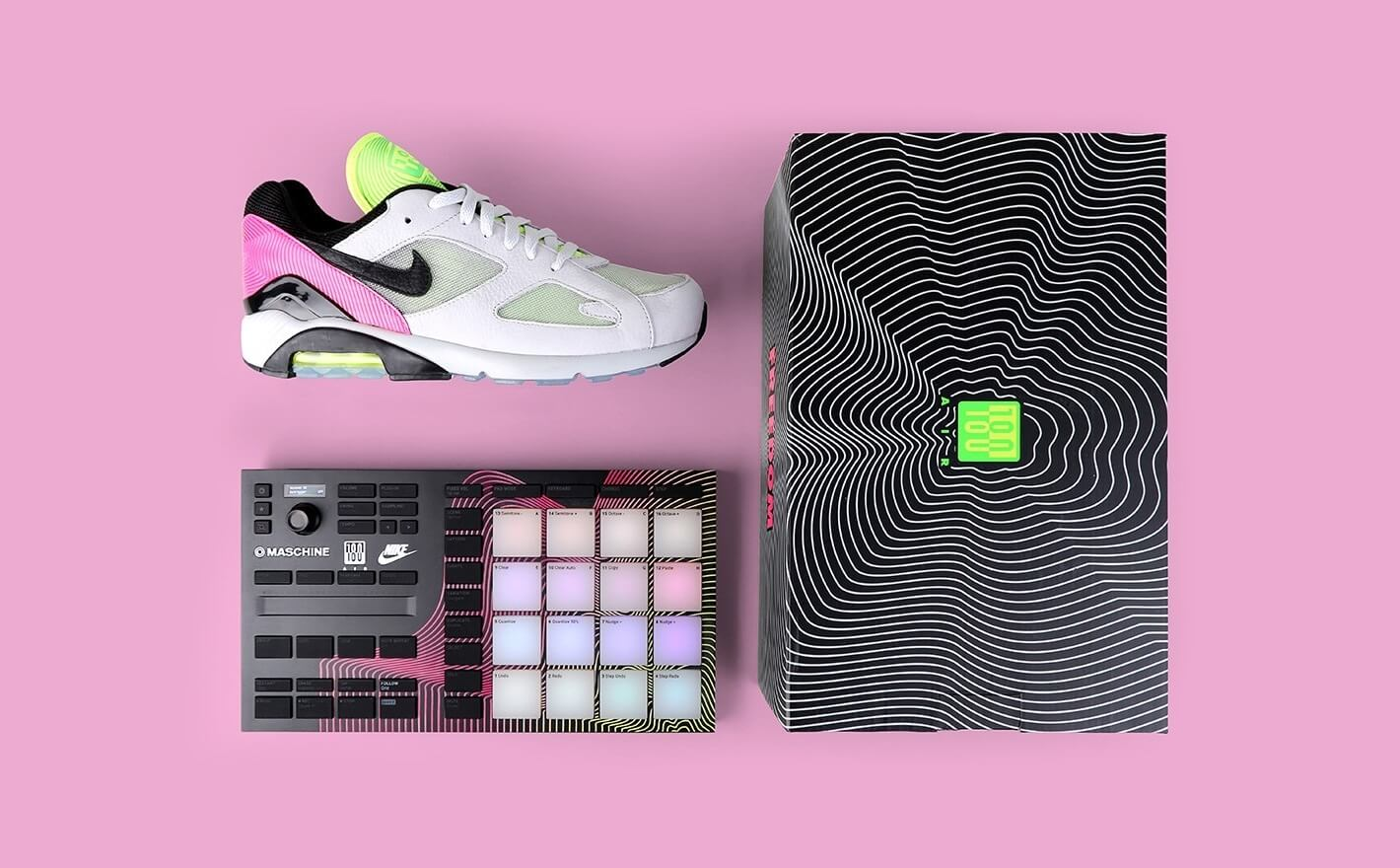 495d98f7793 Native Instruments Giveaway: Nike Air Max 180 & customized Maschine Mikro