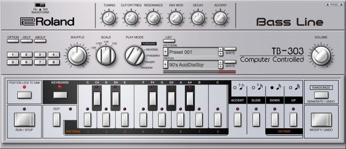 Roland Cloud TB 303 software synthesizer