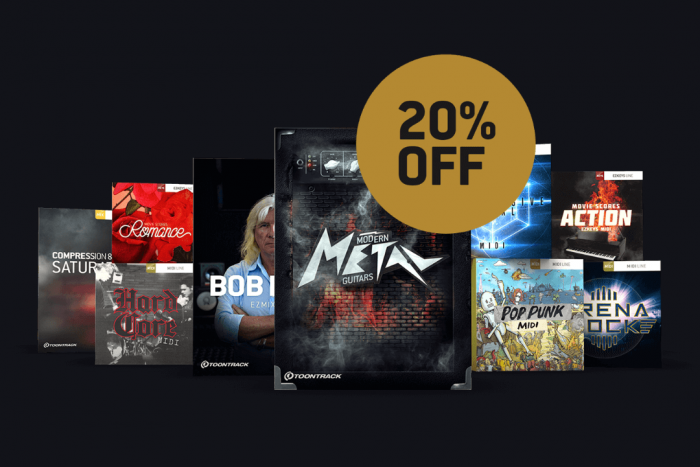 Toontrack MIDI Drums 20 OFF feat
