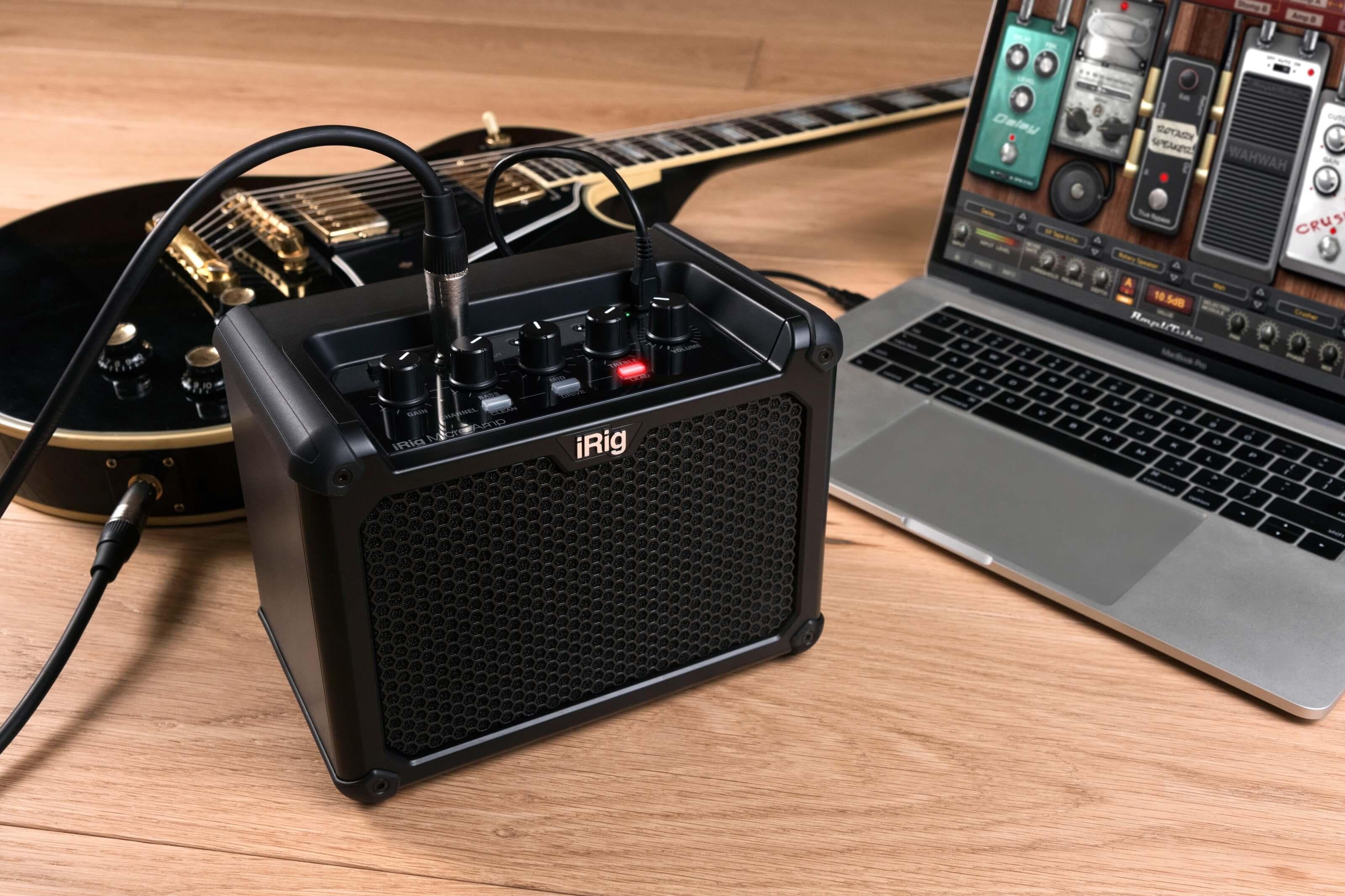 IK Multimedia's iRig Micro Amp with integrated iOS/USB