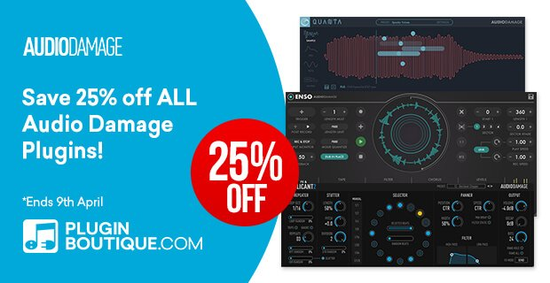 Audio Damage Spring Sale 25 OFF