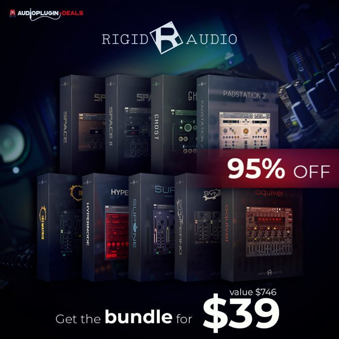 Get 95% OFF Rigid Audio Bundle, 7 Kontakt libraries on sale for $39 USD