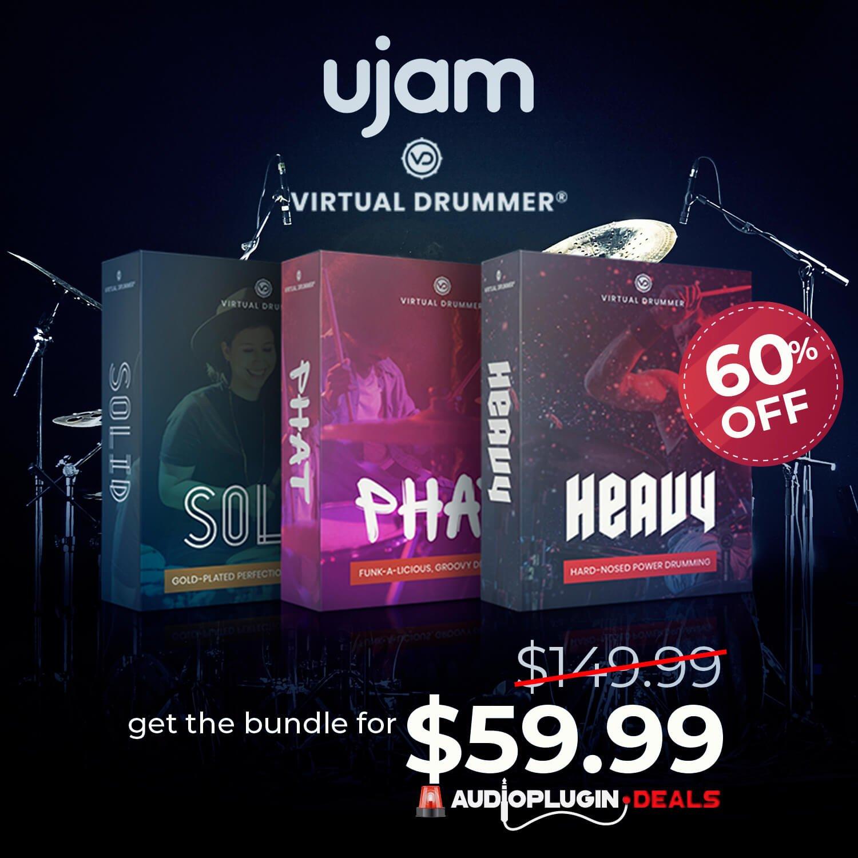 Get 60% off UJAM's Virtual Drummer Bundle at Audio Plugin Deals