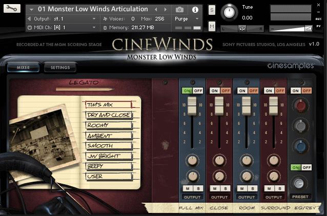 Cinesamples CineWinds Monster Low Winds