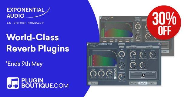 Get 30% off Exponential Audio's reverb plugins at Plugin