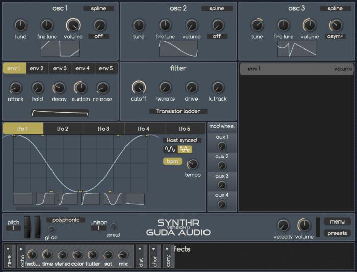 GuDa Audio SynthR 1.1