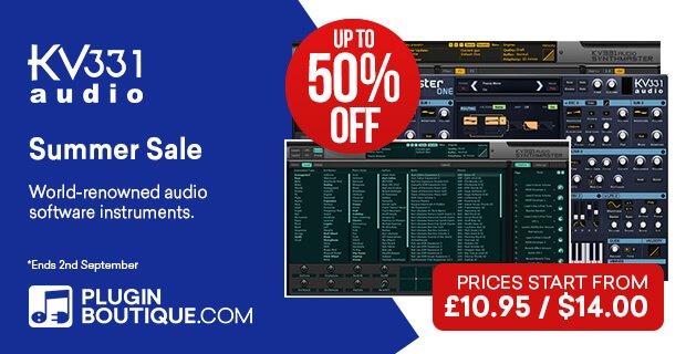 KV331 Audio Summer Sale 50% OFF
