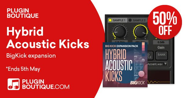 BigKick Hybrid Acoustic Kicks 50% OFF