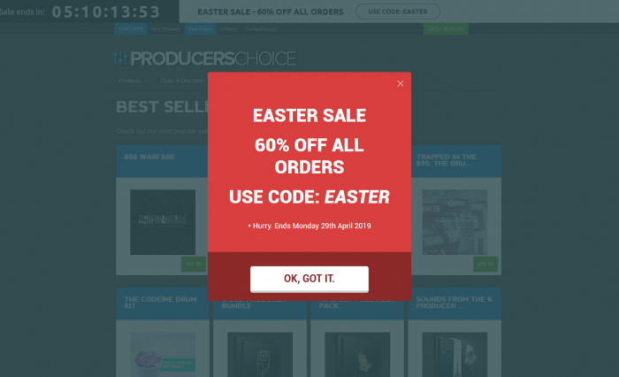 Producers Choice Easter Sale: Save 60% on sample packs for