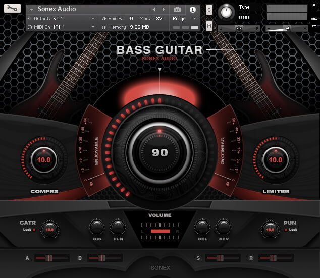Sonex Audio Bass Guitar Collection