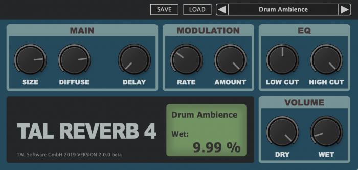 TAL Reverb 4 v2 beta