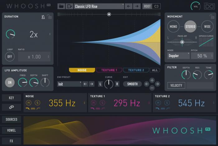UVI Whoosh FX 01 MAIN 3 GUI