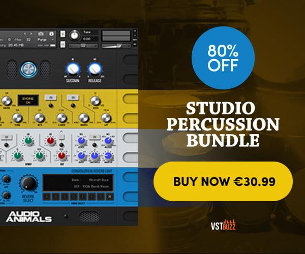 VST Buzz Studio Percussion Bundle 80 OFF