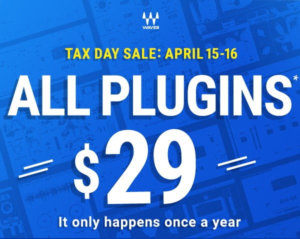 Waves Tax Day Sale