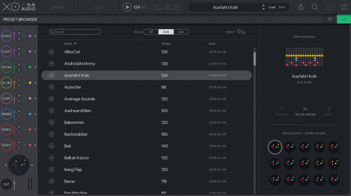 XLN Audio XO Preset Browser